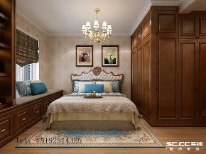 四居 天一 天境 欧式 实创 青岛 卧室图片来自实创装饰小彩在天一仁和天境160平四居室欧式的分享