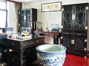 别墅装修 新古典 中式风格 腾龙设计 书房图片来自周峻在别墅装修中式风格完工实景展示!的分享