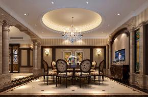 华庭别墅 装修设计 欧式古典 腾龙设计 餐厅图片来自腾龙设计在华庭别墅300平欧式古典风格设计的分享