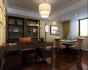 嘉年别墅 新中式风格 腾龙设计 书房图片来自腾龙设计在嘉年别墅项目装修新中式风格设计的分享
