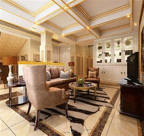华亭别墅 装修设计 欧式古典 腾龙设计 客厅图片来自腾龙设计在华庭别墅项目装修搜古典风格设计的分享