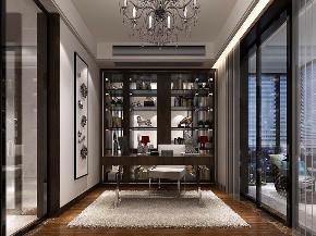 别墅装修 新中式 腾龙设计 现代风格 书房图片来自周峻在400平别墅项目装修现代风格的分享