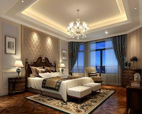 华庭别墅 装修设计 欧式古典 腾龙设计 卧室图片来自腾龙设计在华庭别墅300平欧式古典风格设计的分享