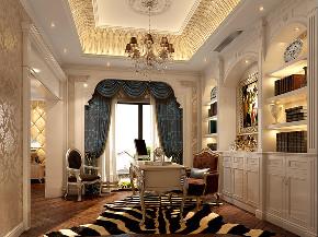 西郊大公馆 别墅装修 欧式古典 腾龙设计 书房图片来自腾龙设计在西郊大公馆别墅欧式古典风格设计的分享