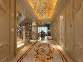 华亭别墅 装修设计 欧式古典 腾龙设计 玄关图片来自腾龙设计在华亭别墅项目装修欧式古典风格的分享