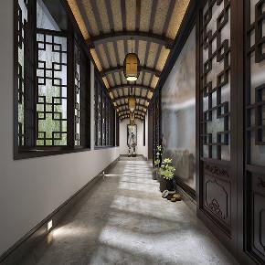别墅装修 中式风格 腾龙设计 玄关图片来自周峻在2300平独栋别墅中式风格设计的分享