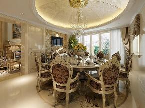 华亭别墅 装修设计 欧式古典 腾龙设计 餐厅图片来自腾龙设计在华亭别墅项目装修欧式古典风格的分享