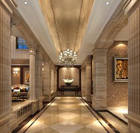 华庭别墅 装修设计 欧式古典 腾龙设计 玄关图片来自腾龙设计在华庭别墅300平欧式古典风格设计的分享