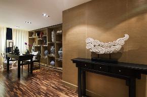 中式 四居 大户型 跃层 复式 80后 小资 书房图片来自高度国际姚吉智在新中式生活美学 175平米大平层的分享
