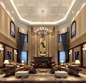 华庭别墅 装修设计 欧式古典 腾龙设计 客厅图片来自腾龙设计在华庭别墅300平欧式古典风格设计的分享