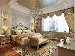 华亭别墅 装修设计 欧式古典 腾龙设计 卧室图片来自腾龙设计在华亭别墅项目装修欧式古典风格的分享