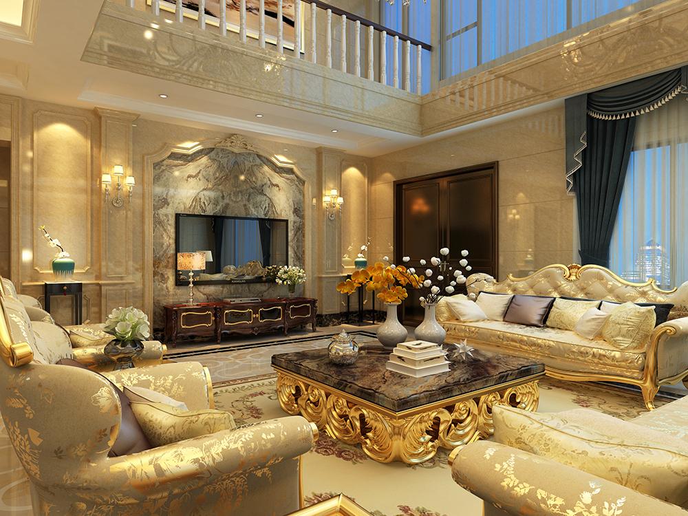 远洋鸿郡 别墅装修 欧式古典 腾龙设计 客厅图片来自孔继民在宝山远洋