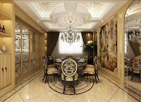 华亭别墅 装修设计 欧式古典 腾龙设计 餐厅图片来自腾龙设计在华庭别墅项目装修搜古典风格设计的分享