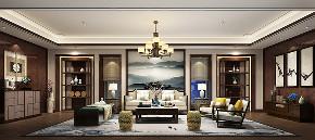 别墅装修 中式风格 腾龙设计 客厅图片来自周峻在2300平独栋别墅中式风格设计的分享