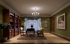 金臣别墅 新古典风格 腾龙设计 书房图片来自腾龙设计在金臣别墅项目装修法式风格设计的分享