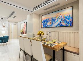港式 家装设计 餐厅图片来自大业美家 家居装饰在港式现代简约家装风格---墅慕的分享