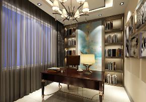 三居 现代 书房图片来自百家装饰LL在中粮隆玺世家的分享