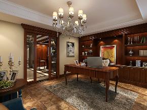 莱茵美墅 别墅装修 欧式古典 腾龙设计 书房图片来自腾龙设计在莱茵美墅别墅欧式古典风格设计的分享
