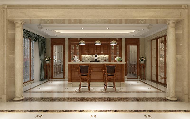 皇朝别墅 装修设计 欧美风格 腾龙设计 厨房图片来自孔继民在皇朝别墅 项目装修欧式古典风格的分享