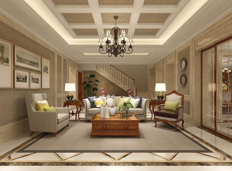 皇朝别墅 装修设计 欧美风格 腾龙设计 客厅图片来自孔继民在皇朝别墅 项目装修欧式古典风格的分享
