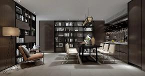 御品园林 别墅装修 现代风格 腾龙设计 书房图片来自周峻在530平现代风格别墅设计案例展示的分享