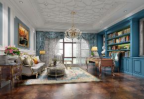 富力湾 别墅装修 法式风格 腾龙设计 书房图片来自周峻在昆山富力湾别墅法式风格设计的分享