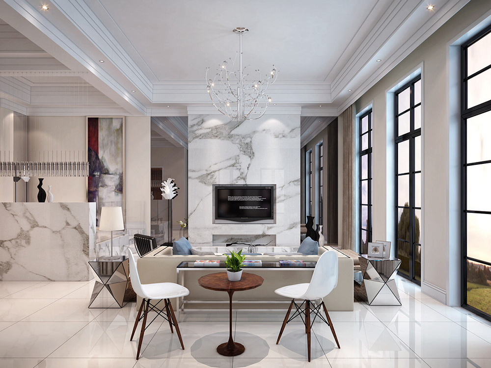 650㎡的现代风格大别墅,装修花了70万,贵吗?