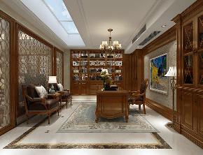 皇朝别墅 装修设计 欧美风格 腾龙设计 书房图片来自周峻在皇朝别墅 项目装修欧式古典风格的分享
