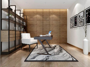 别墅装修 现代风格 腾龙设计 书房图片来自周峻在别墅装修现代风格设计方案展示的分享