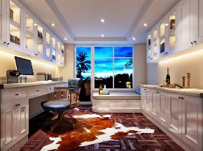 康桥半岛 别墅装修 欧美风格 腾龙设计 书房图片来自腾龙设计在康桥半岛380平别墅项目装修设计的分享