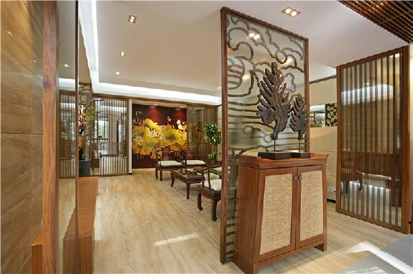 鹭湖宫中式风格玄关