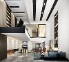 汤臣湖庭花园别墅项目装修现代风格设计,上海腾龙别墅设计作品,欢迎品鉴