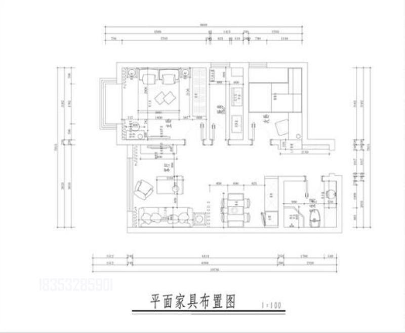 海右重华 93平装修 青岛装修 户型图图片来自实创装饰集团青岛公司在海右重华93平装修设计现代的分享