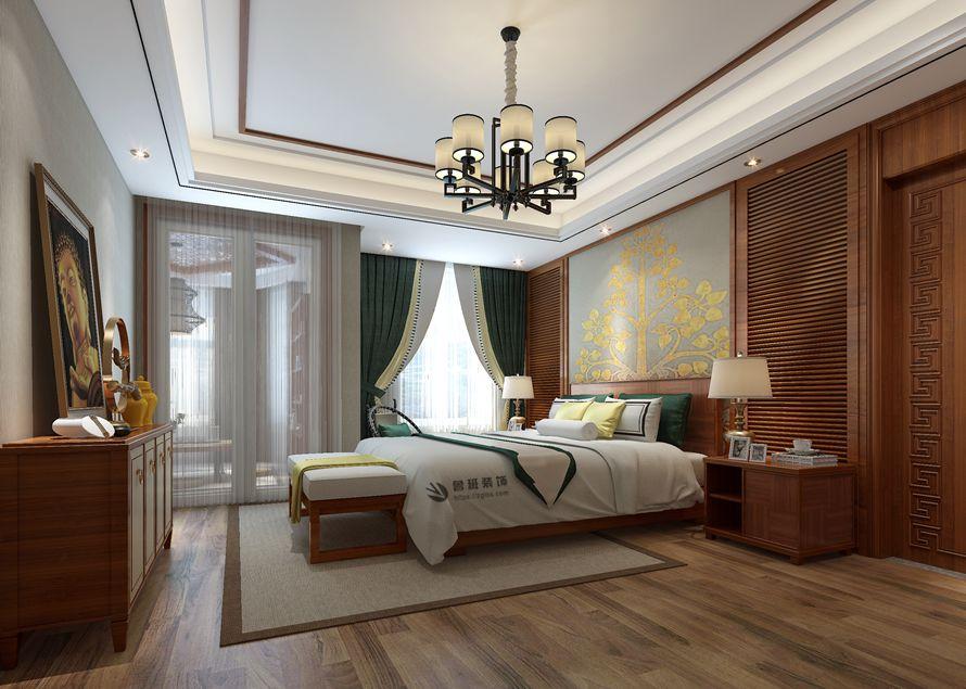 中式 鲁班装饰 国金华府 中式装修 西安装修 卧室图片来自西安鲁班装饰装修在国金华府215平米现代中式装修的分享