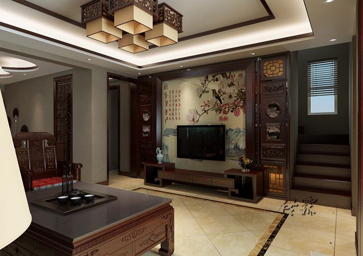 别墅 龙湖滟澜山 中式 客厅图片来自百家装饰LL在龙湖滟澜山的分享