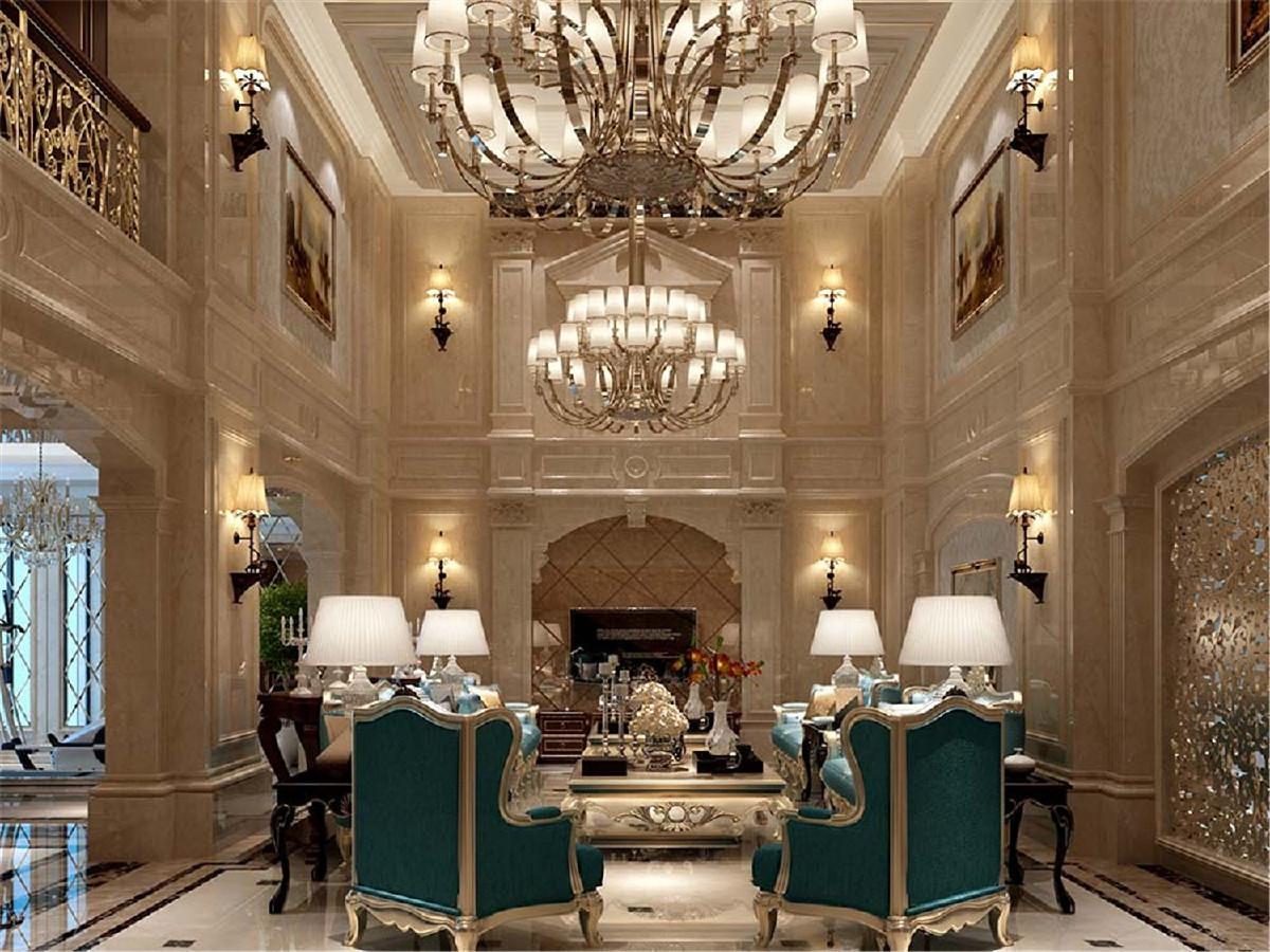苏州桃花源别墅项目装修欧式欧式古典风格设计,上海腾龙别墅设计作品,欢迎品鉴