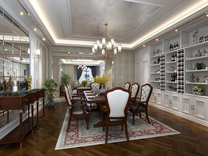 国金华府 鲁班装饰 美式装修 220平米装 餐厅图片来自西安鲁班装饰装修在国金华府220平米美式装修的分享