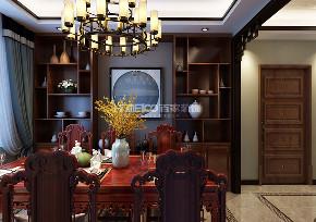 别墅 金地铂悦 中式 餐厅图片来自百家装饰LL在金地铂悦220平别墅设计的分享