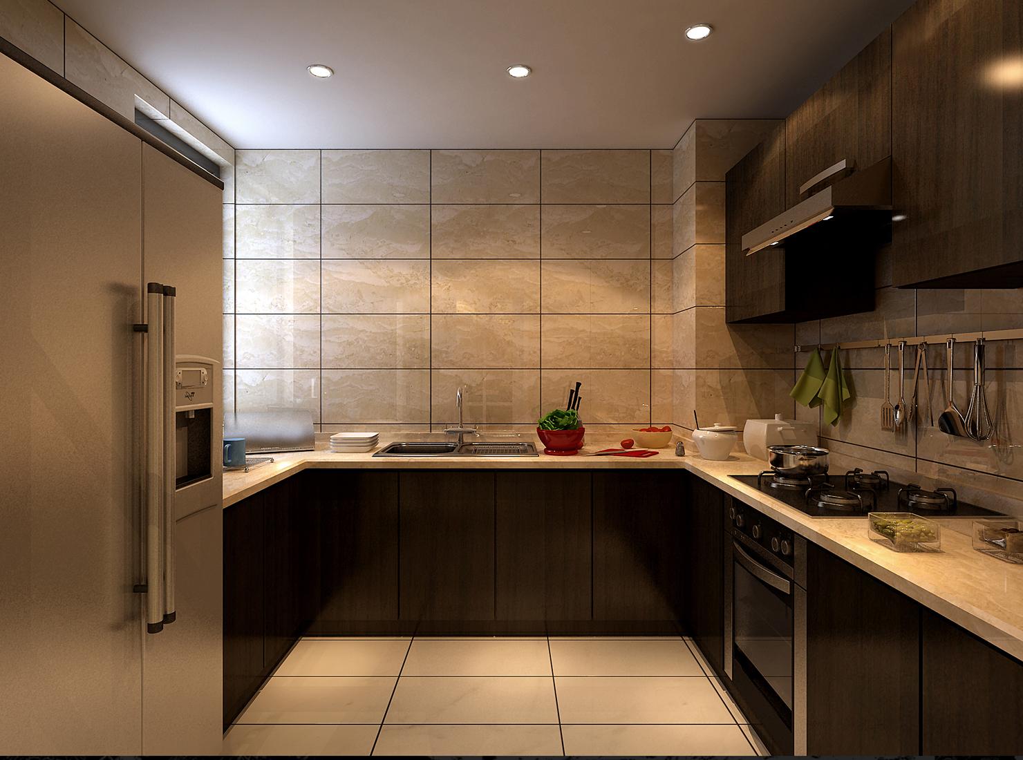 桃花源田庄 别墅装修 中式风格 腾龙设计 厨房图片来自孔继民在桃花源田庄 别墅新中式风格设计的分享