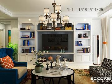 远洋山庄120平美式三居室精装修