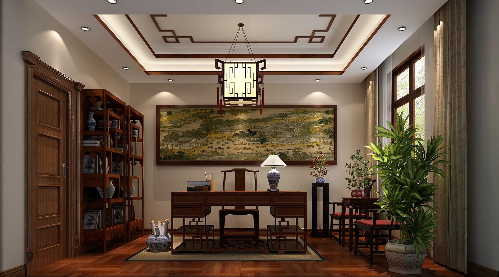 书房图片来自北京高度国际在格拉斯小镇奢华欧式风格的分享