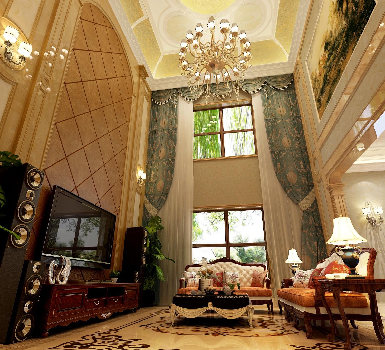 客厅图片来自北京高度国际在格拉斯小镇奢华欧式风格的分享
