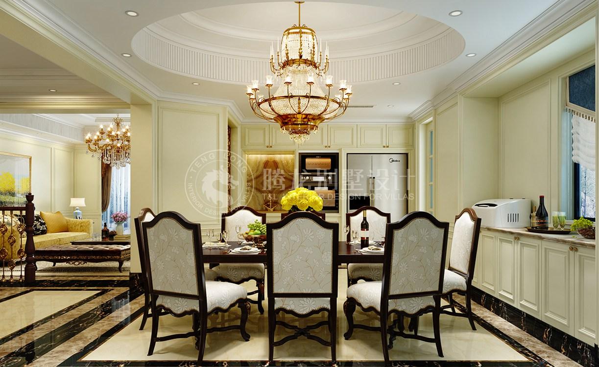 康桥半岛 别墅装修 欧美风格 腾龙设计 餐厅图片来自腾龙设计在康桥半岛350平别墅装修简美风格的分享