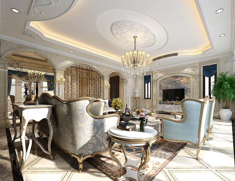 东源丽晶 别墅装修 现代风格 腾龙设计 客厅图片来自腾龙设计在东源丽晶520平别墅现代风格设计的分享