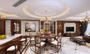路劲翡丽湾 别墅装修 新古典 腾龙设计 餐厅图片来自腾龙设计在路劲翡丽湾350平别墅新古典设计的分享