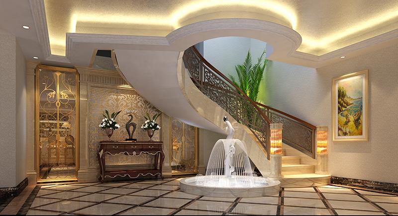 东郊紫园 别墅装修 欧式风格 腾龙设计 楼梯图片来自腾龙设计在东郊紫园600平别墅欧式风格设计的分享