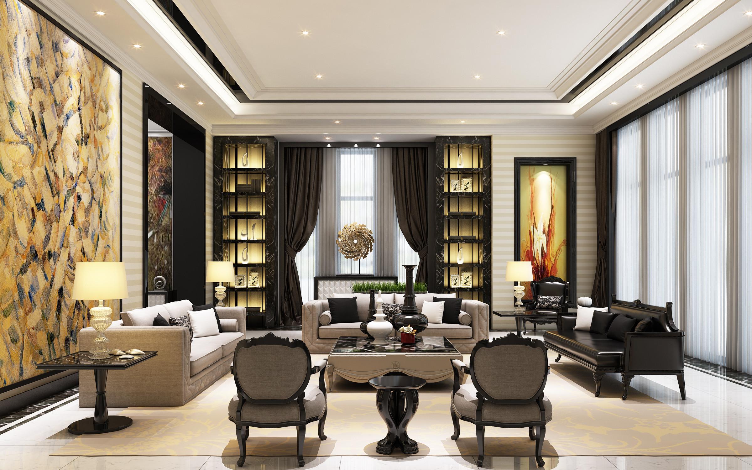 观庭别墅 别墅装修 美式风格 腾龙设计 客厅图片来自腾龙设计在观庭别墅项目装修美式风格设计的分享