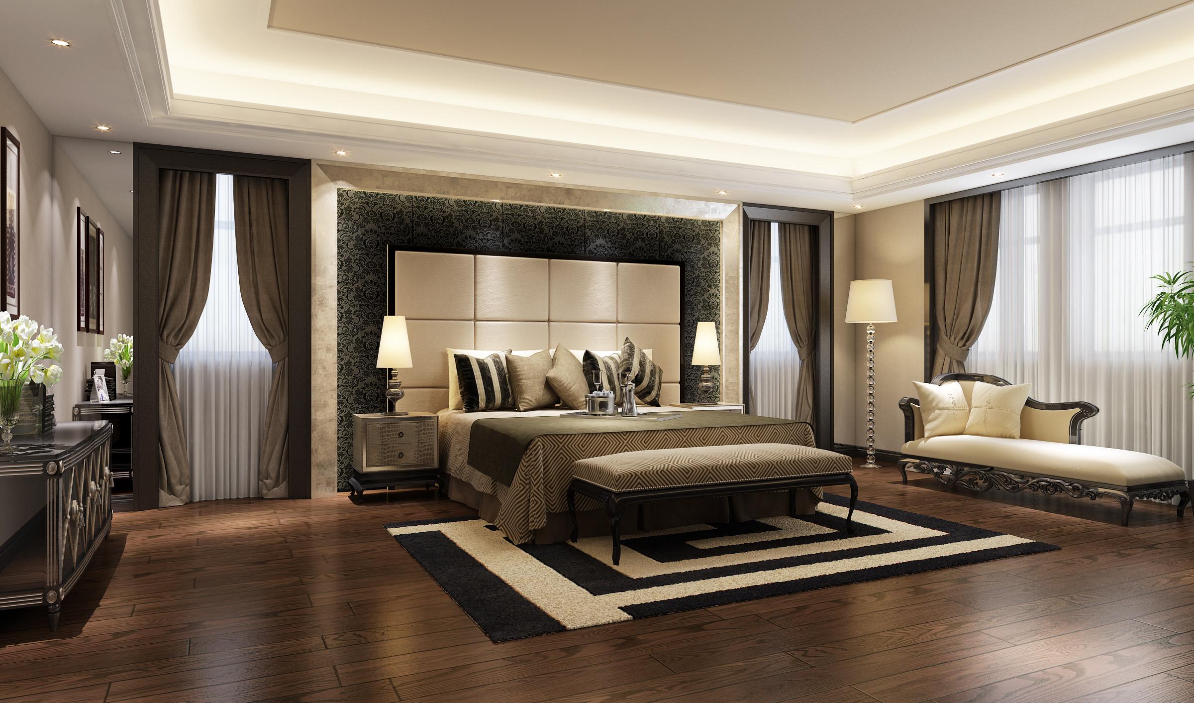 观庭别墅 别墅装修 美式风格 腾龙设计 卧室图片来自腾龙设计在观庭别墅项目装修美式风格设计的分享