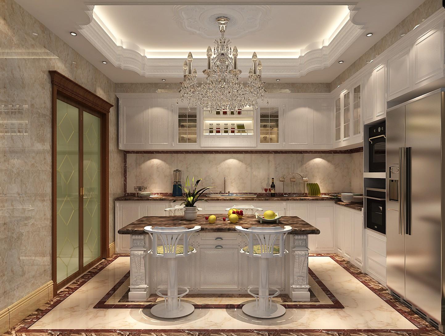 厨房图片来自北京高度国际在格拉斯小镇奢华欧式风格的分享