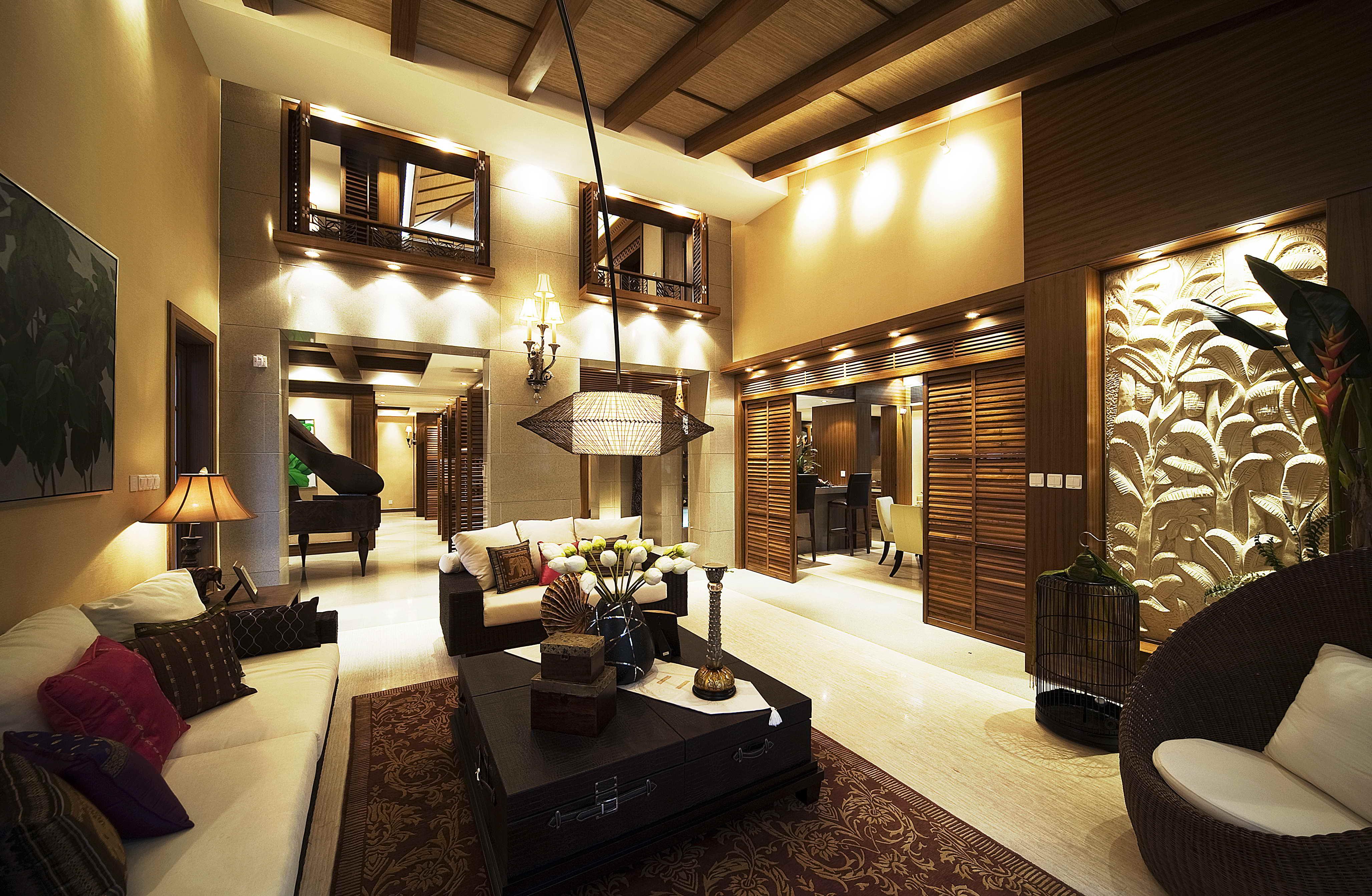 别墅装修美式风格腾龙设计客厅
